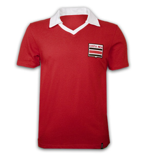 Costa Rica 1988 Short Sleeve Retro Shirt 100% cotton