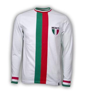 Mexico Away WC 1982 Long Sleeve Retro Shirt 100% cotton