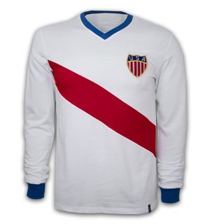 USA  WC 1950 Long Sleeve Retro Shirt 100% cotton
