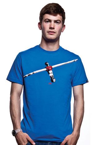 Foosball T-Shirt // Blue 100% cotton