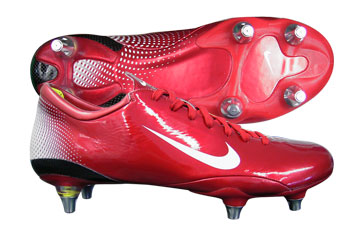 Mercurial Vapour III SG Football Boots Sport Red / White
