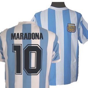 Argentina 1986 World Cup Maradona No. 10 Shirt