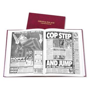 Crystal Palace Football Newspaper Book