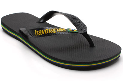 Havaianas Brazil Logo Mens Flip Flops Black