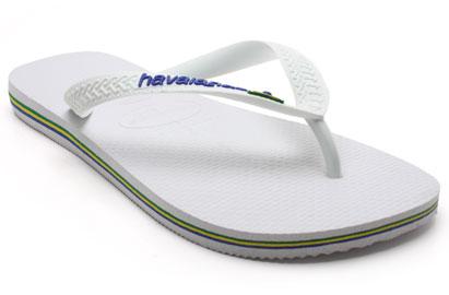 Havaianas Brazil Logo Mens Flip Flops White