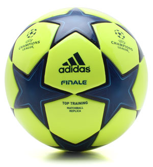 Finale 10 Champions League Replica Football Yellow/Navy
