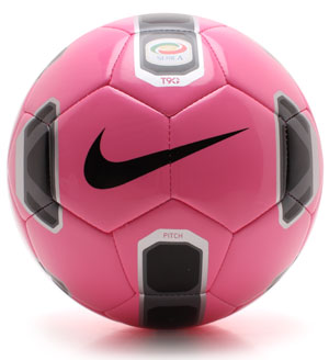 T90 Serie A Pitch Football Neon Pink/Black/Silver
