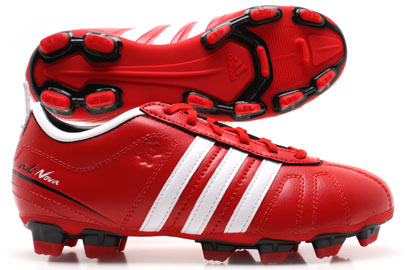 AdiNova IV TRX FG Kids Football Boots Scarlet Red/White/Gold