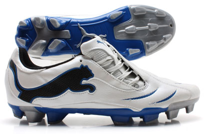 PowerCat 3.10 FG Football Boots White/Black/Blue