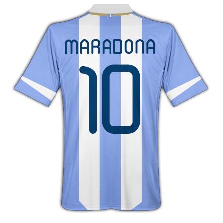 201112 Argentina Home Shirt (Maradona 10)