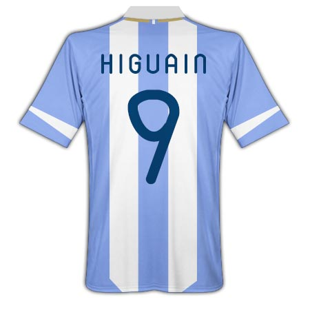 2011-12 Argentina Home Shirt (Higuain 9)