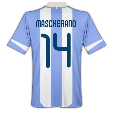 2011-12 Argentina Home Shirt (Mascherano 14)