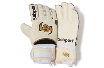 Wrappa Classic Goalkeepers Gloves White/Black/Gold
