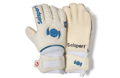Wrappa Aqua Goalkeepers Gloves White/Blue