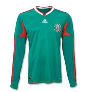 2010-11 Mexico Adidas Long Sleeve Home Shirt