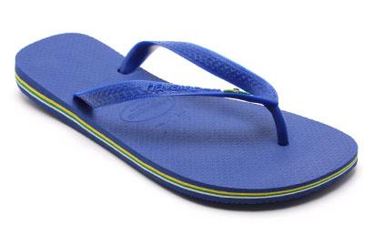 Havaianas Brasil Mens Flip Flops Royal Blue