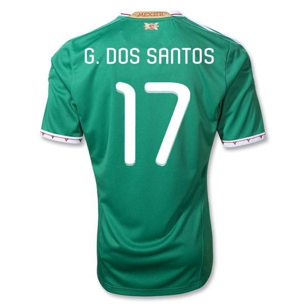 2011-12 Mexico Adidas Home Shirt (G.Dos Santos 17)