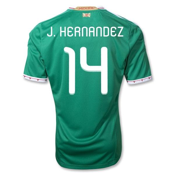 2011-12 Mexico Adidas Home Shirt (J.Hernandez 14)
