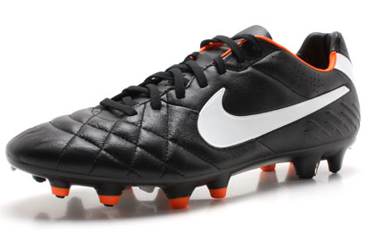 Tiempo Legend IV FG Football Boots Black/White/Orange
