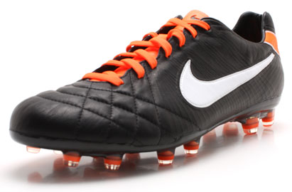 Tiempo Legend IV Elite FG Football Boots Black/White/Orange
