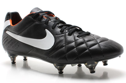 Tiempo Legend IV SG Football Boots Black/White/Orange
