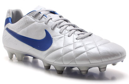 Tiempo Legend IV FG Football Boots White/Blue