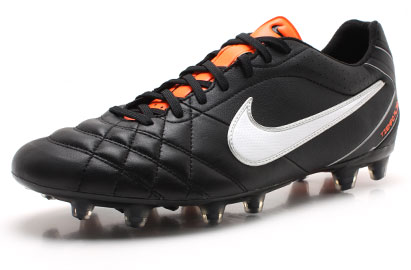 Tiempo Flight FG Football Boots Black/White/Orange