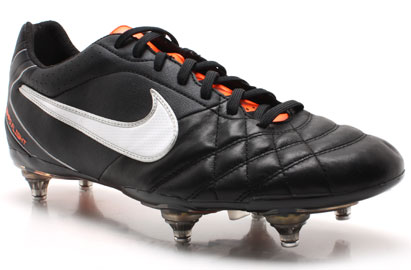 Tiempo Flight SG Football Boots Black/White/Orange