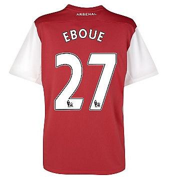 201112 Arsenal Nike Home Shirt (Eboue 27)  Kids