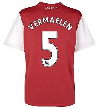 201112 Arsenal Nike Home Shirt (Vermaelen 5)  Kids