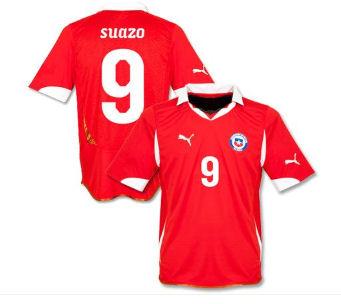 2011-12 Chile Puma Home Shirt (Suazo 9)
