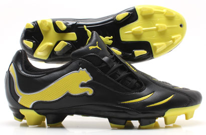 PowerCat 3.10 FG Football Boots Black/Yellow