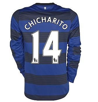 2011-12 Man Utd Nike L/S Away Shirt (Chicharito 14)