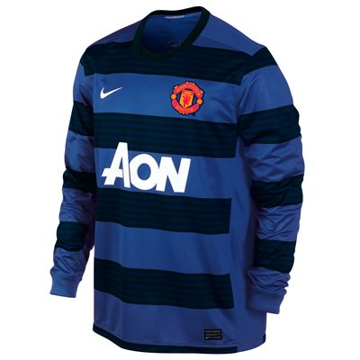 2011-12 Man Utd Away Long Sleeve Nike Football Shirt