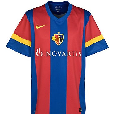 2011-12 FC Basle Nike Home Football Shirt
