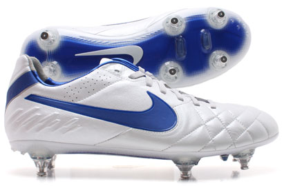 Tiempo Legend IV SG Football Boots White/Blue