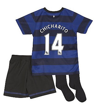 2011-12 Man Utd Nike Little Boys Away (Chicharito 14)