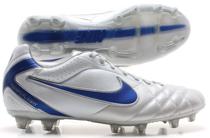 Tiempo Flight FG Football Boots White/Blue