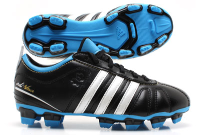 AdiNova IV TRX FG Kids Football Boots Black/ White/Blue
