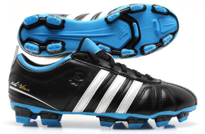 AdiNova IV TRX FG Football Boot Black/ White/ Blue