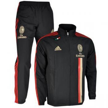 2011-12 AC Milan Adidas Presentation Tracksuit (Black)