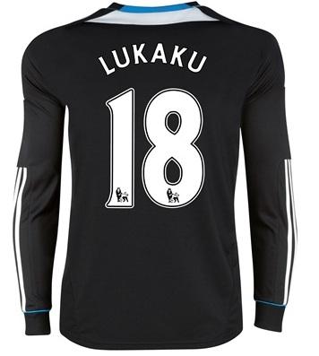 2011-12 Chelsea L/S Away Shirt (Lukaku 18)