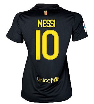 2011-12 Barcelona Nike Womens Away Shirt (Messi 10)