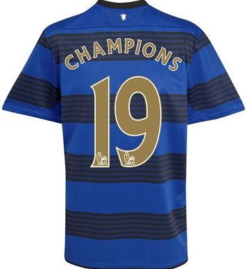 2010-11 Man Utd Nike Away Shirt (Champions 19)