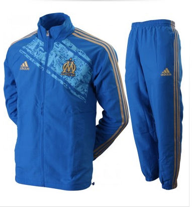 2011-12 Marseille Adidas Presentation Tracksuit (Blue)