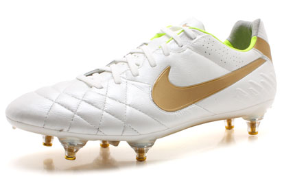 Tiempo Legend IV SG Football Boots White/Metallic Gold