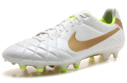 Tiempo Legend IV FG Football Boots White/Metallic Gold
