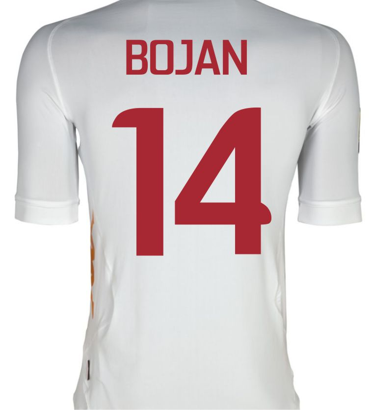 2011-12 Roma Kappa Away Shirt (Bojan 14)