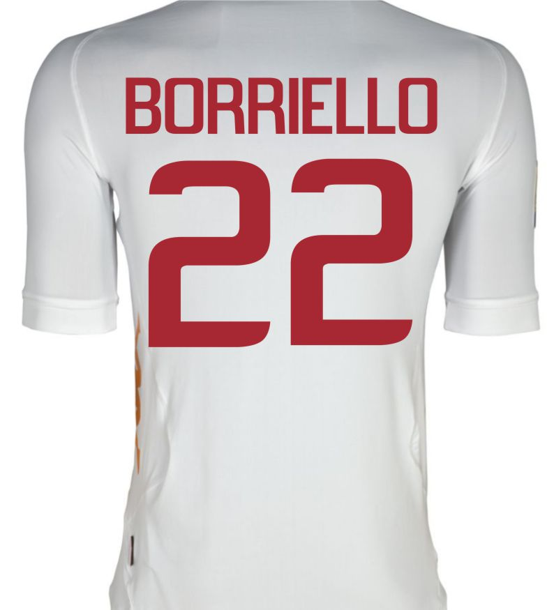 2011-12 Roma Kappa Away Shirt (Borriello 22)