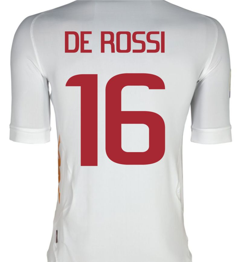2011-12 Roma Kappa Away Shirt (De Rossi 16)
